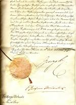 Die Urkunde mit dem Siegel