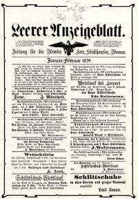 Leerer Anzeigeblatt