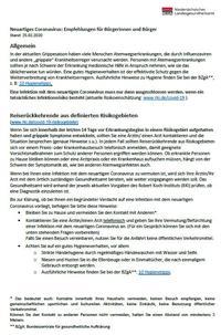 Merkblatt des Niedersächsischen Landesgesundheitsamtes